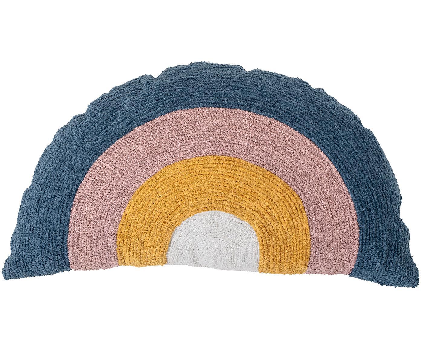 Cojín Rainbow, con relleno, Exterior: algodón, Blanco, amarillo, azul, rosa, An 70 x L 40 cm