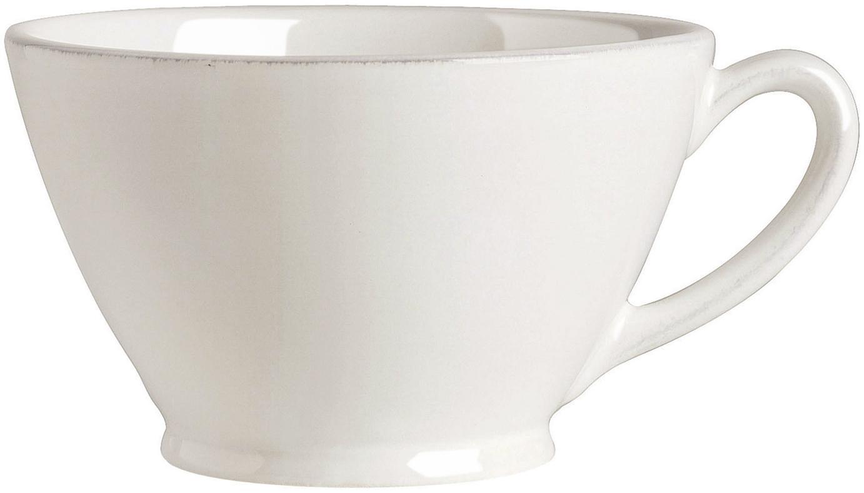 Taza grande Constance, estilo rústico, Cerámica, Blanco, Ø 18 x Al 9 cm