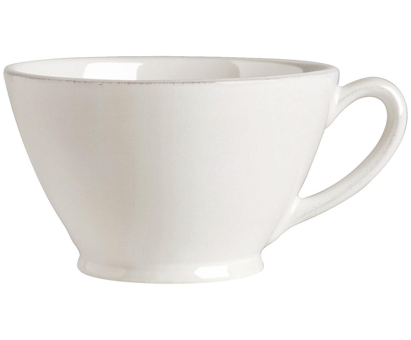 Tazza da te in bianco Constance, Ceramica, Bianco, Ø 18 x Alt. 9 cm