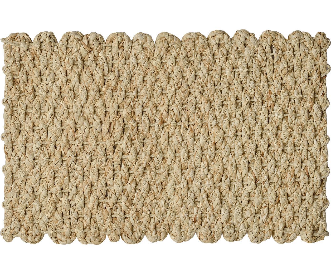 Placemats Cascada van maïsbladeren, 2 stuks, Maïsstengels, Maïskleurig, 30 x 45 cm