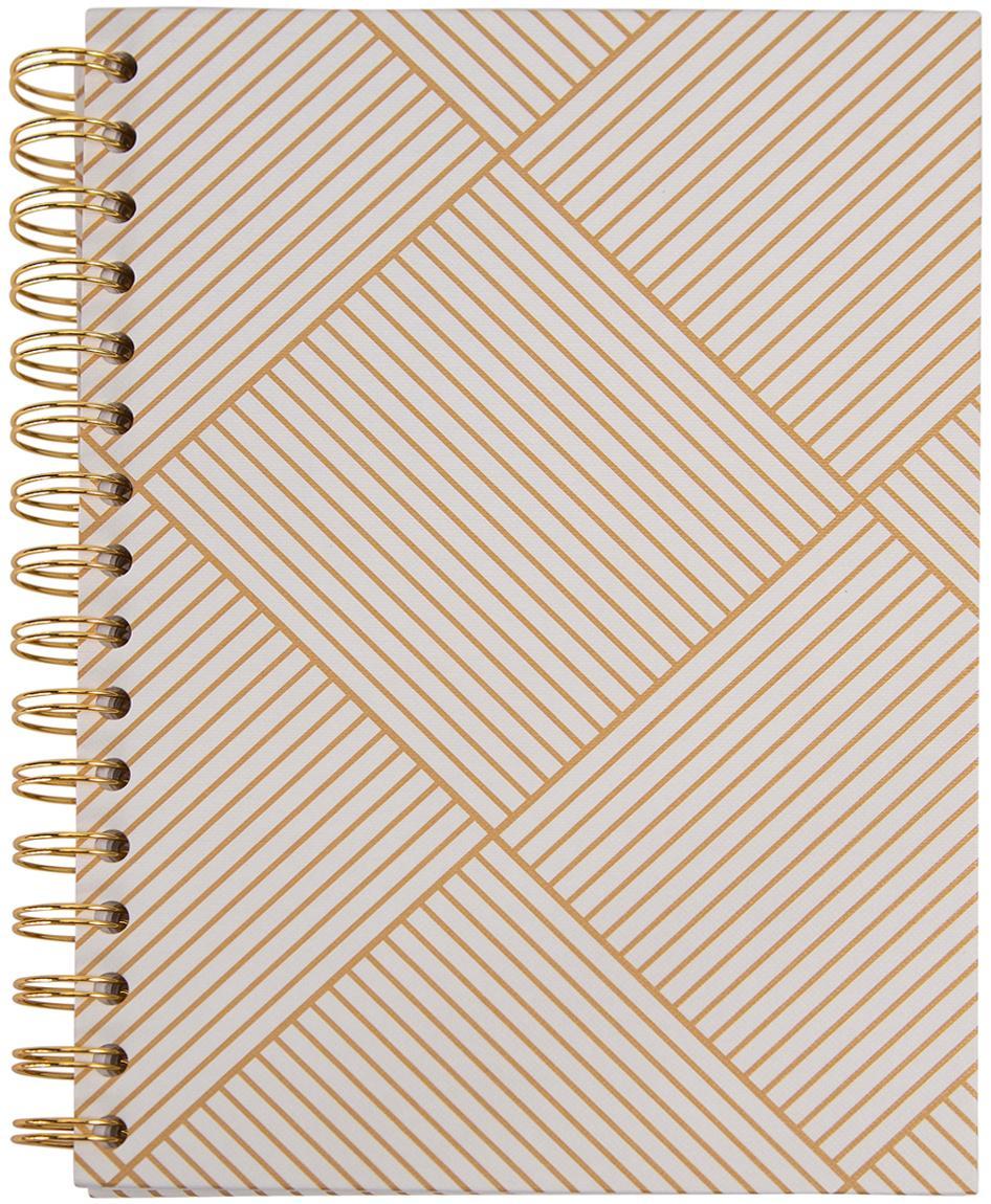 Notizbuch Bürli, Goldfarben, Weiß, 16 x 21 cm