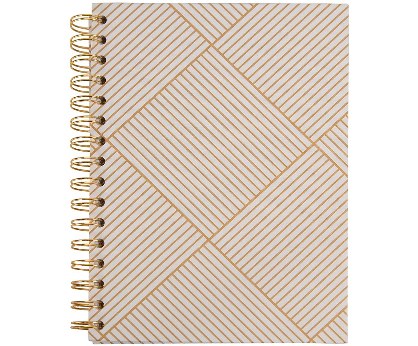 Quaderno a spirale Bürli, Dorato , bianco, Larg. 16 x Alt. 21 cm