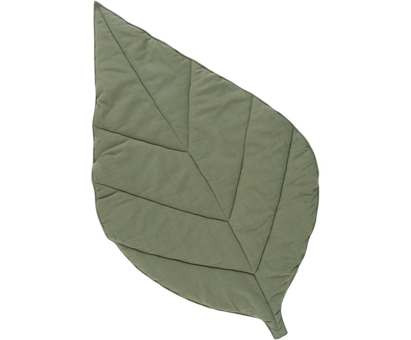 Tappeto da gioco Keaton, Rivestimento: 100% cotone bio, Verde, Larg. 100 x Lung. 165 cm