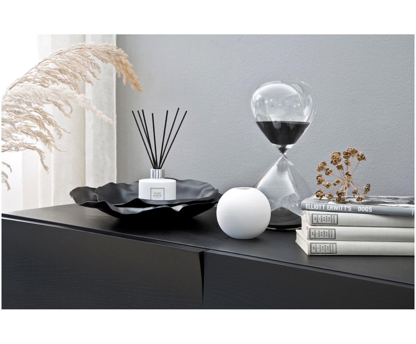 Vaso a sfera fatto a mano Ball, Ceramica, Bianco, Ø 10 x Alt. 10 cm