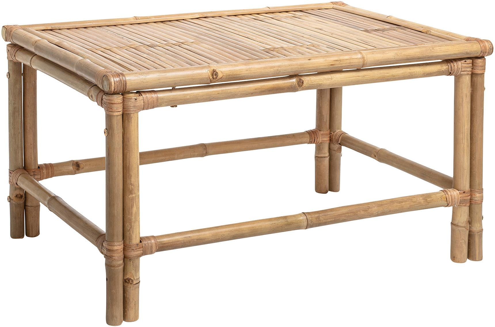 Tavolino da salotto in bambù Sole, Bambù, Beige, Larg. 90 x Prof. 60 cm