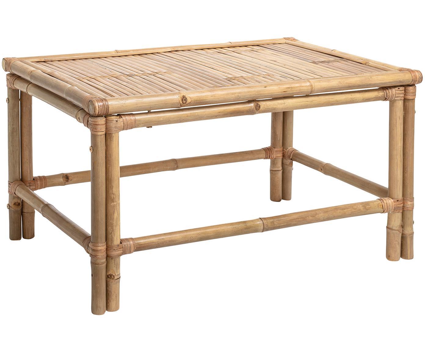 Stolik kawowy z bambusa Sole, Drewno bambusowe, Beżowy, S 90 x G 60 cm