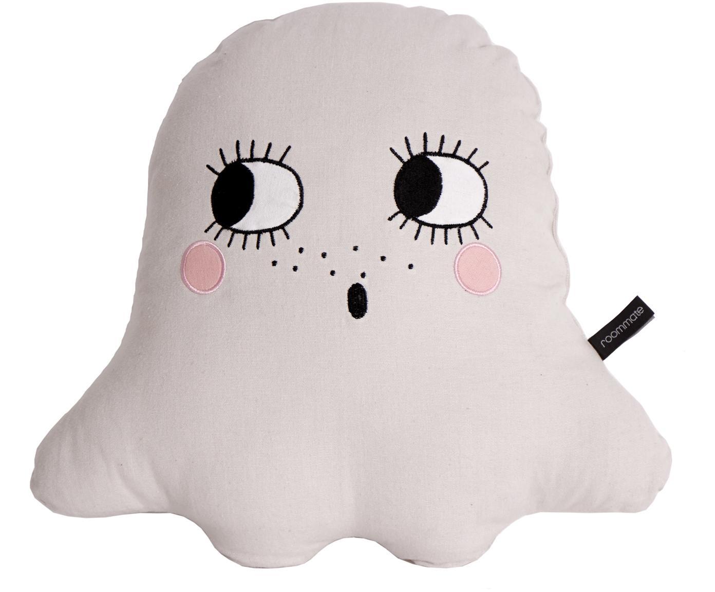 Kissen Ghost aus Bio-Baumwolle, mit Inlett, Bezug: Bio-Baumwolle, OCS-zertif, Weiss, 42 x 42 cm