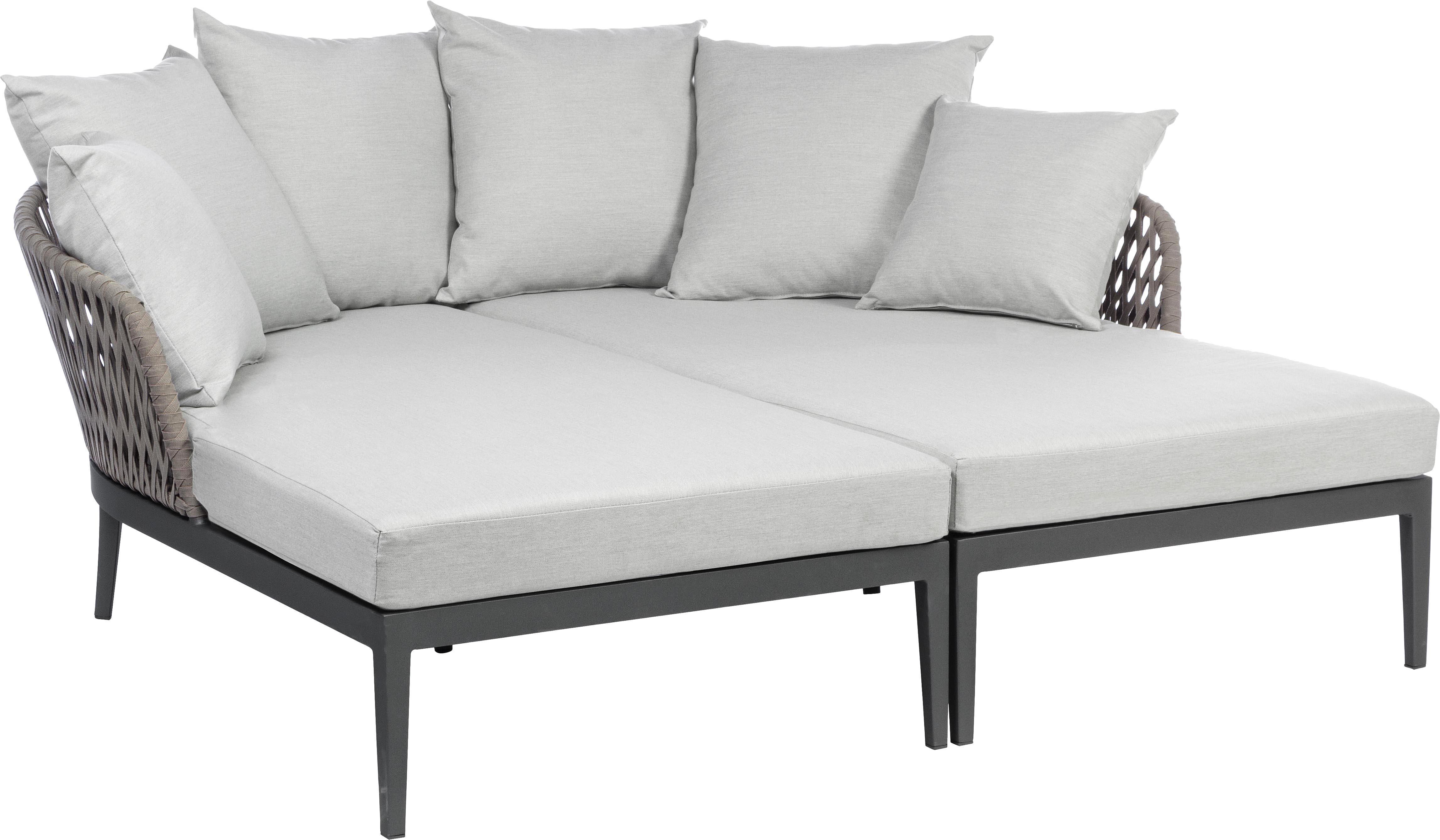 Łóżko ogrodowe Pelican, 2 elem., Antracytowy, szary, S 182 x G 179 cm