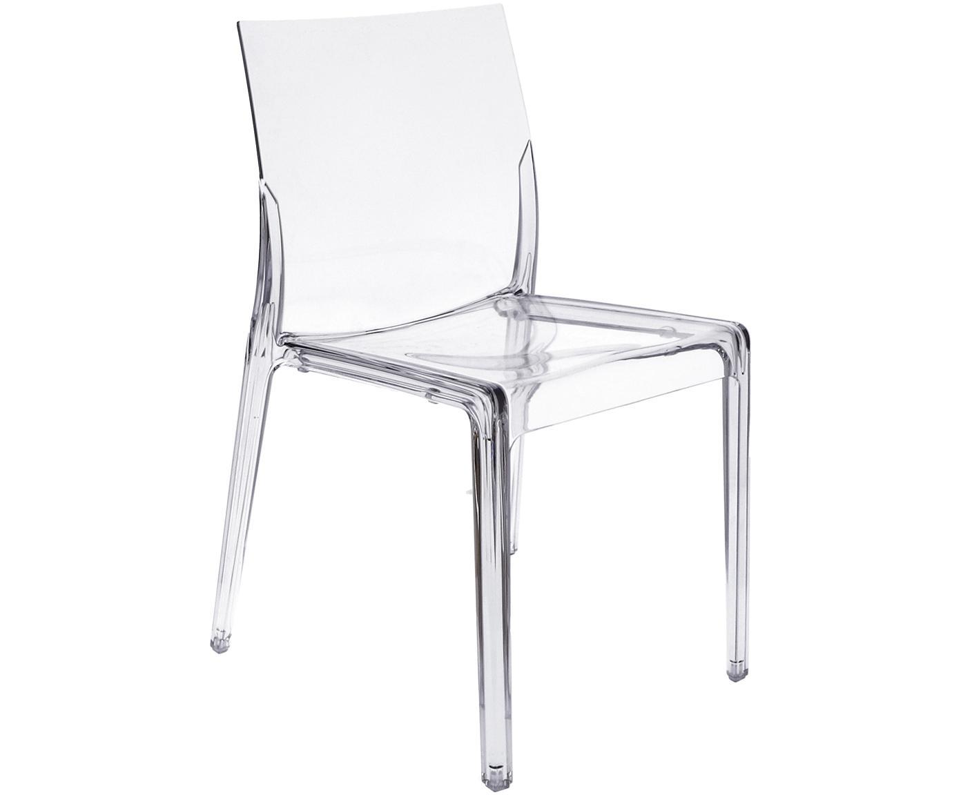 Krzesło z tworzywa sztucznego Mia, Tworzywo sztuczne (poliwęglan), Transparentny, S 46 x G 44 cm