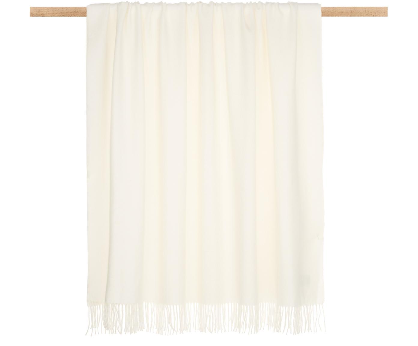 Manta de baby alpaca Luxury, Beige, blanco, An 130 x L 200 cm