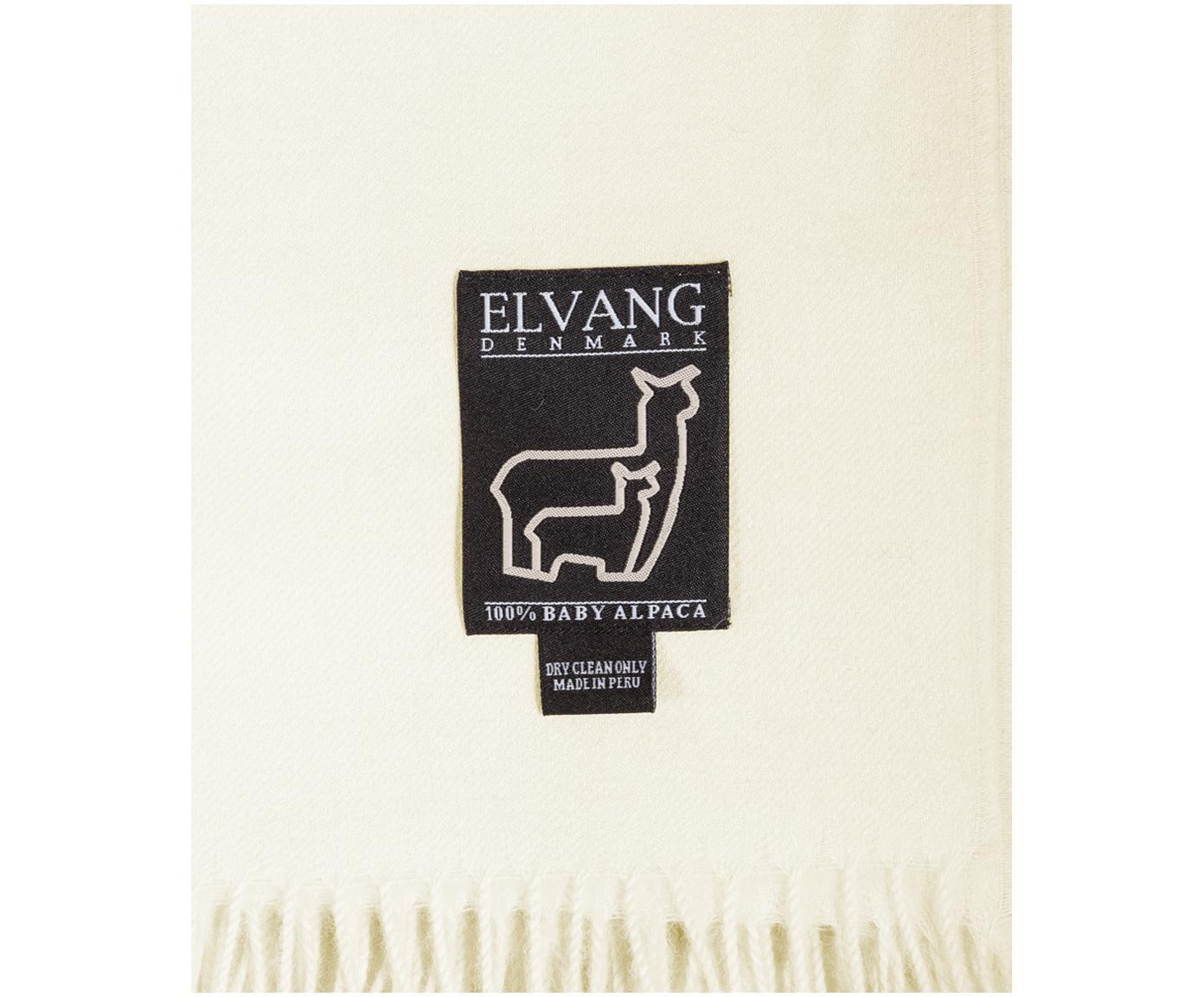 Pled z wełny z młodych alpak Luxury, Beżowy, biały, S 130 cm x D 200