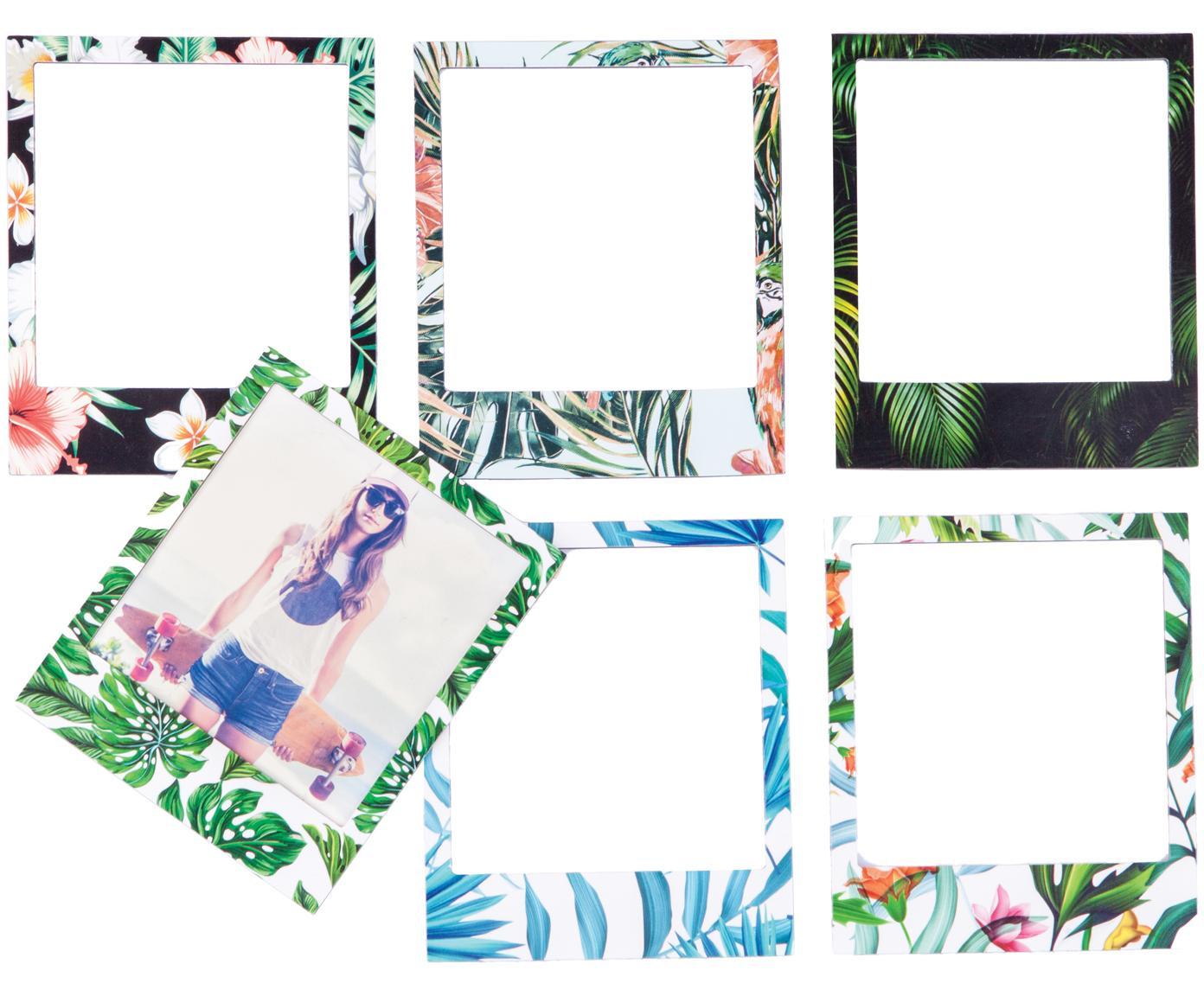 Bilderrahmen-Set Tropical, 6-tlg., Vorderseite: PVC, Rückseite: Magnet, Mehrfarbig, 6 x 9 cm