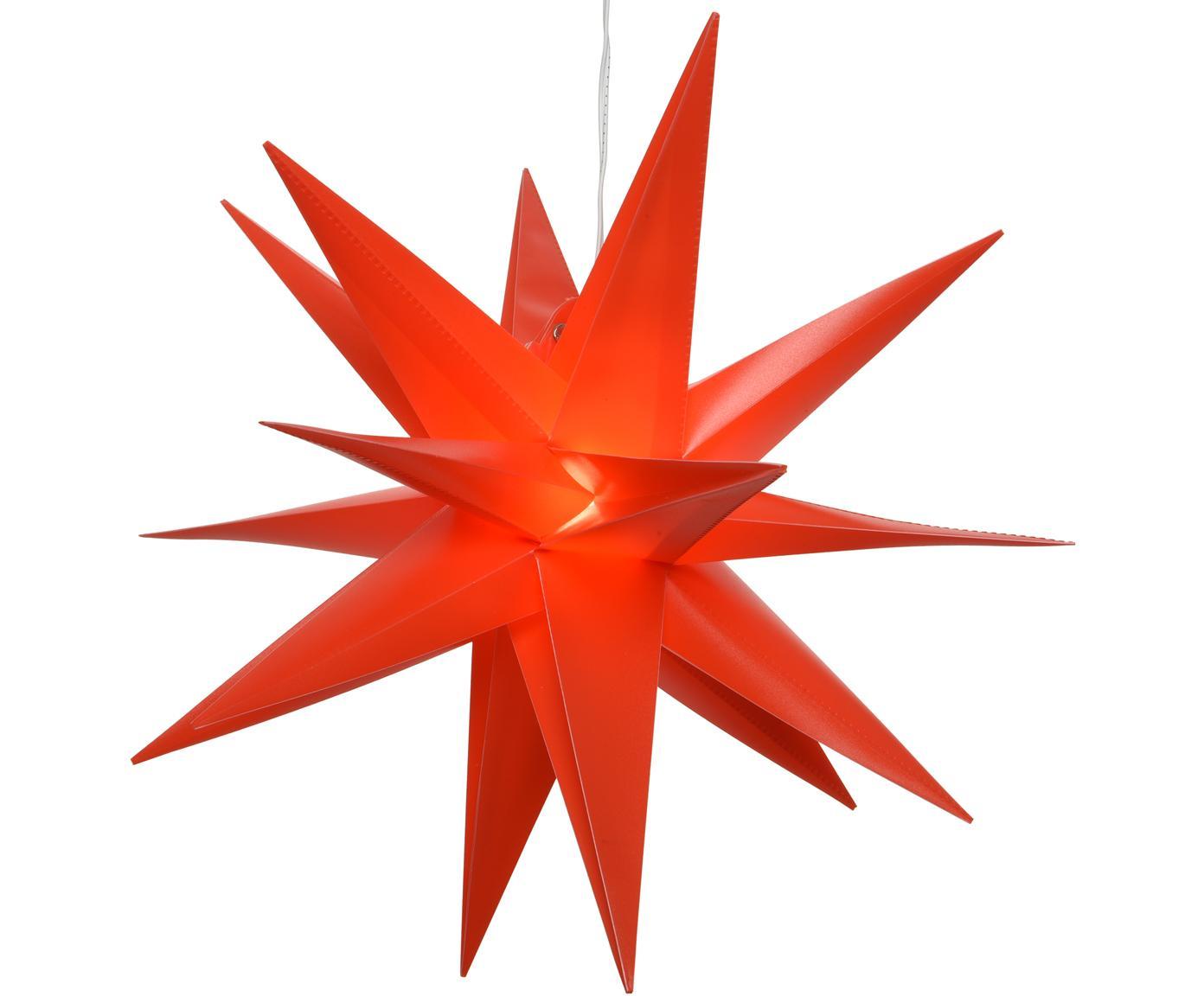 Batteriebetriebener LED Leuchtstern Zing, Rot, Ø 30 cm