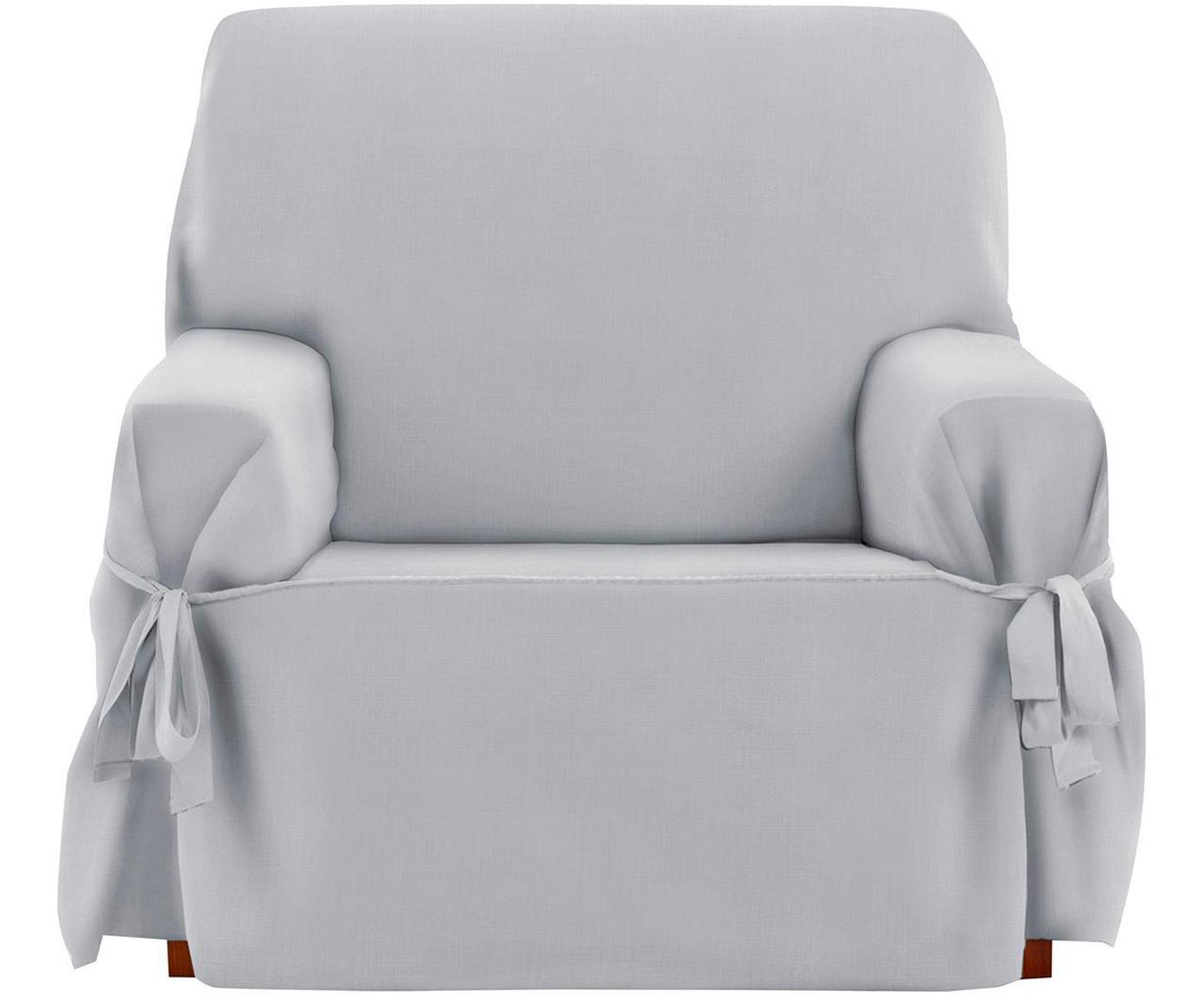 Funda de sillón Levante, 50%algodón, 50%poliéster, Gris, An 120 x Al 110 cm