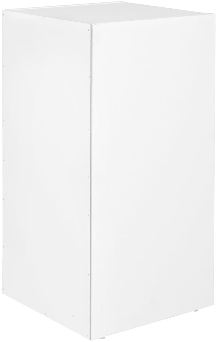 Kleines Standregal Milo in Weiß Matt, Spanplatte, melaminbeschichtet, Weiß, B 30 x T 60 cm