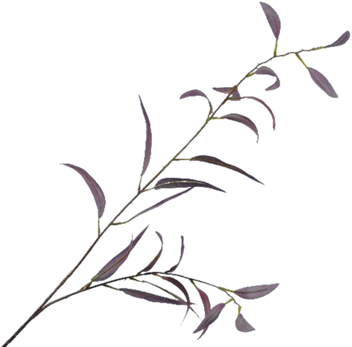 Kunstblume Eukalyptus, Polyester, Kunststoff, Metall, Lila, Grün, L 90 cm