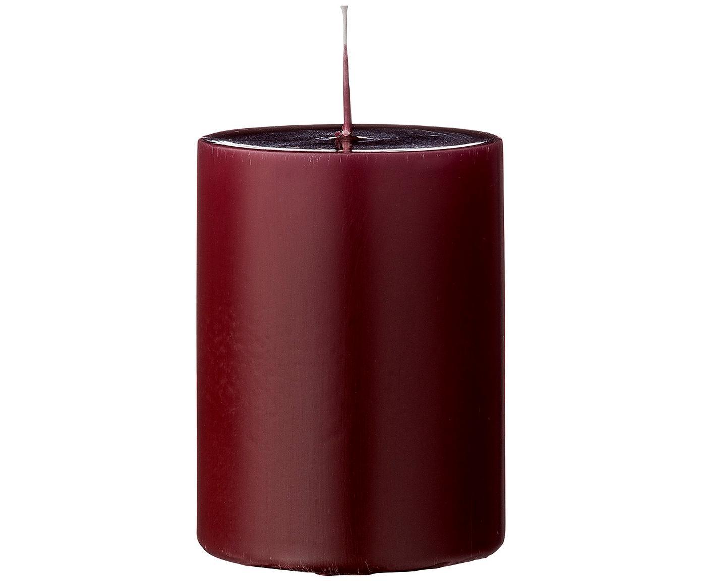 Stumpenkerzen Lulu, 4 Stück, Wachs, Rot, Ø 7 x H 10 cm