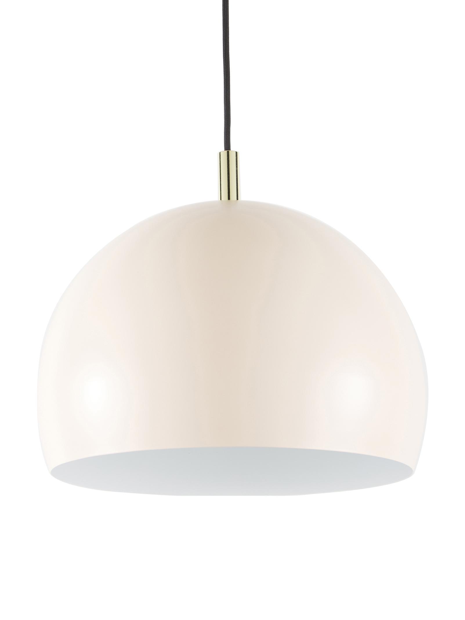 Lámpara de techo de metal Wilma, Pantalla: metal con pintura en polv, Anclaje: metal con pintura en polv, Cable: cubierto en tela, Rosa, Ø 33 x Al 25 cm