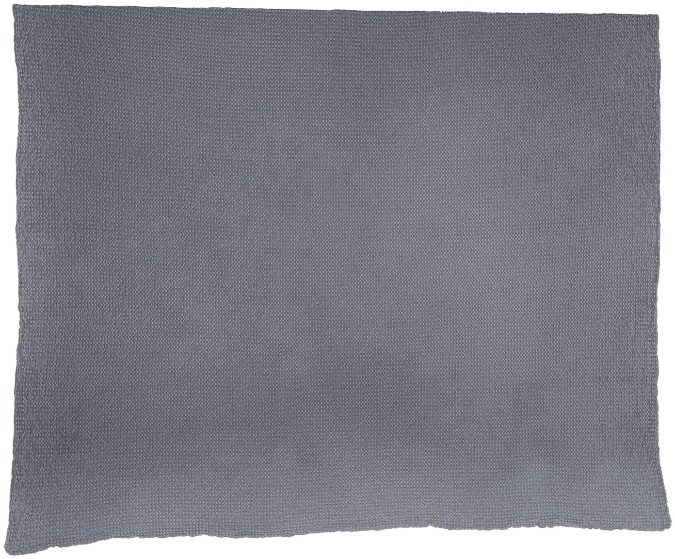 Narzuta ze strukturalną powierzchnią Vigo, 100% bawełna, Ciemny niebieski, S 220 x D 240 cm