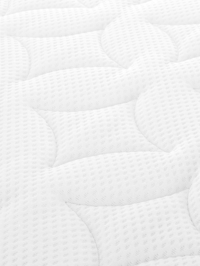 Premium Boxspringbett Phoebe, Matratze: 7-Zonen-Taschenfederkern , Füße: Massives Buchenholz, lack, Grau, 140 x 200 cm