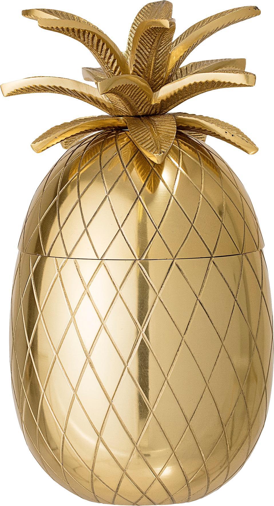 Pojemnik do lodu Pineapple, Aluminium, Odcienie złotego, Ø 13 x W 24 cm