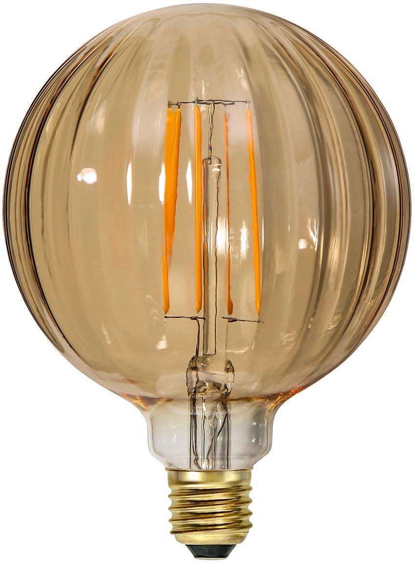 LED peertje Circy (E27/3W), Peertje: glas, Fitting: nikkel, Amberkleurig, Ø 13 x H 17 cm