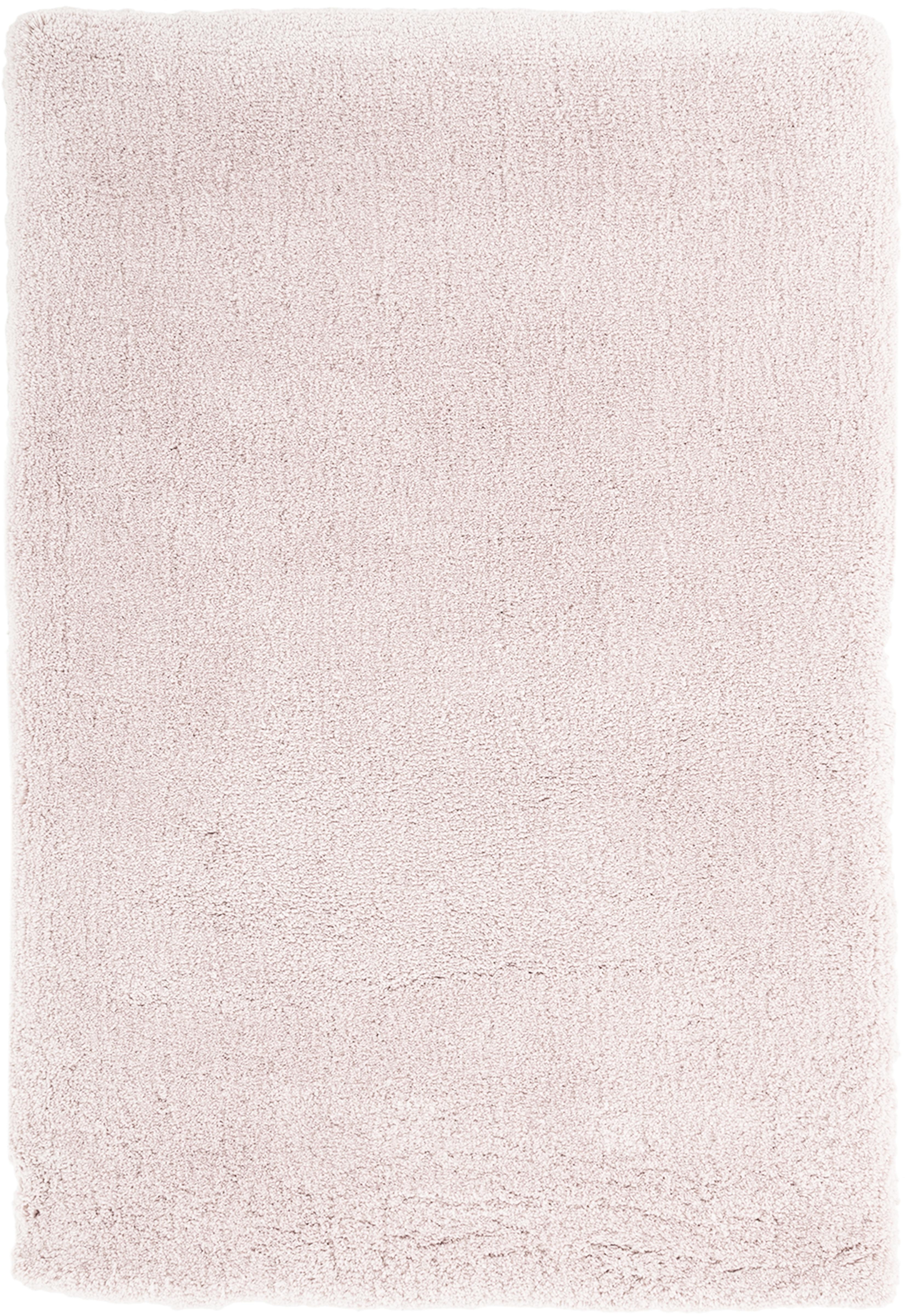 Tappeto peloso morbido rosa Leighton, Retro: 70% poliestere, 30% coton, Rosa, Larg. 120 x Lung. 180 cm (taglia S)