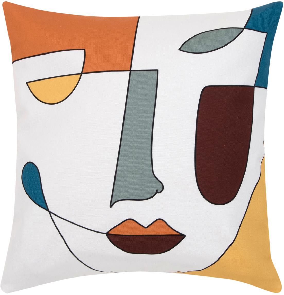 Kussenhoes Adriano, Weeftechniek: panama, Wit, multicolour, 40 x 40 cm