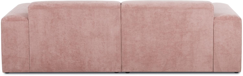 Rohová pohovka zmanšestru Melva (3místná), Růžová