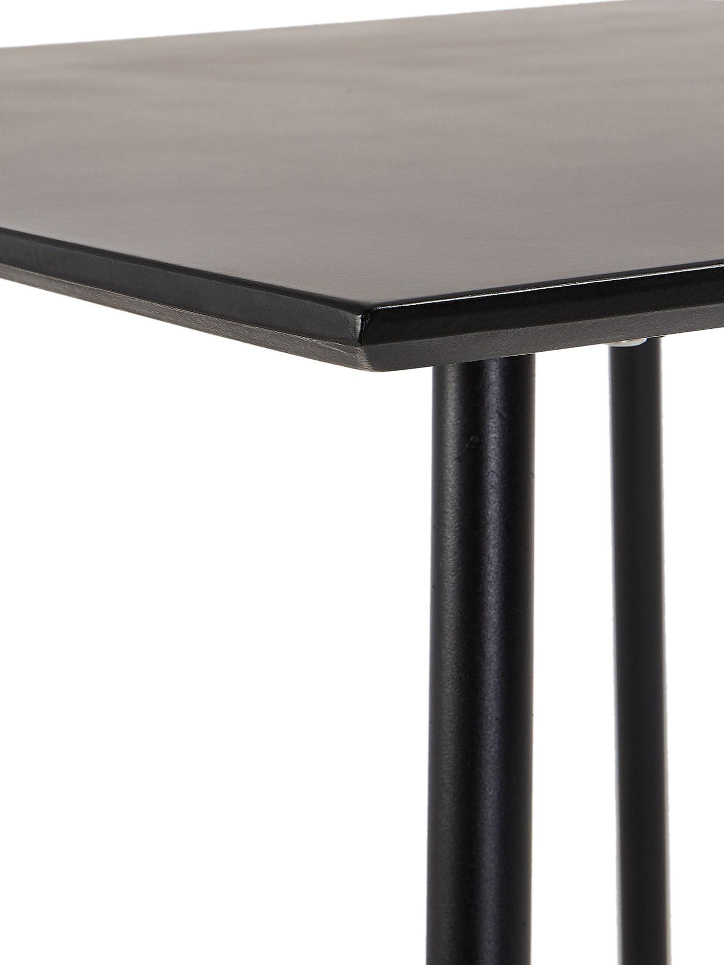 Balkonový stůl z kovu Mathis, Bílá, mosazná