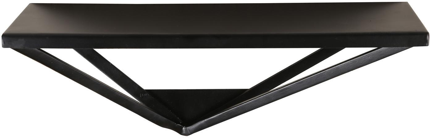 Zwart metalen wandrek Expo, Gecoat metaal, Zwart, 41 x 16 cm