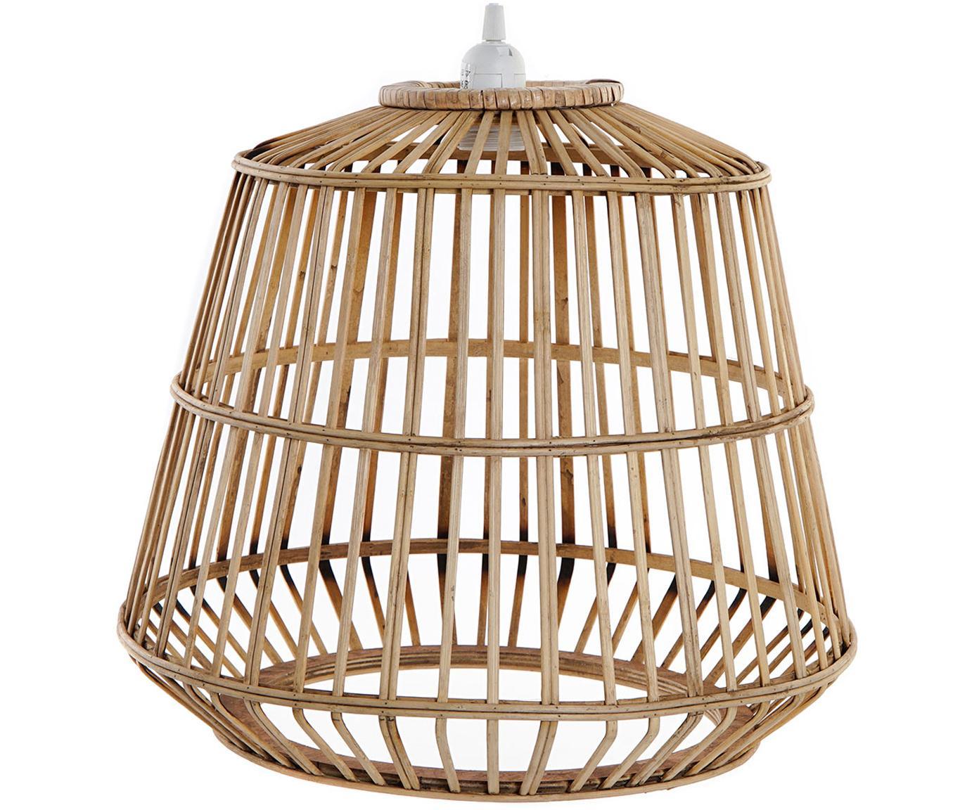 Lámpara de techo Spike, Pantalla: bambú, Beige, Ø 43 x Al 39 cm