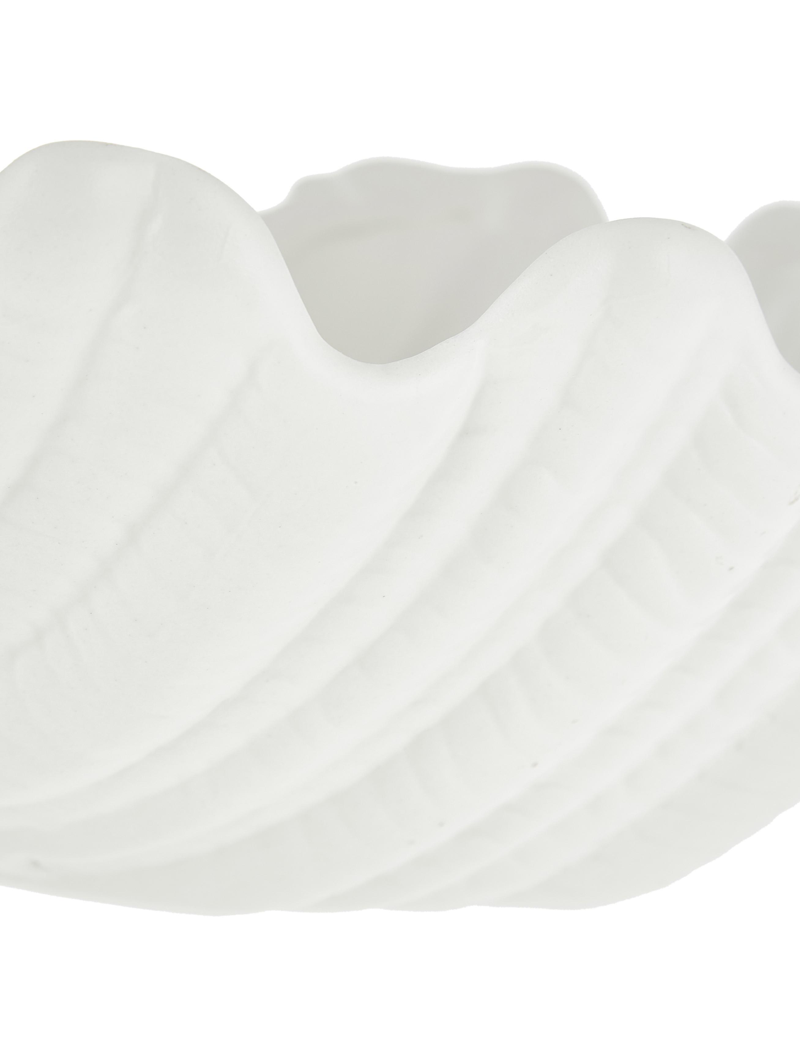 Schale Shell, Keramik, Weiss, Ø 34 x H 9 cm