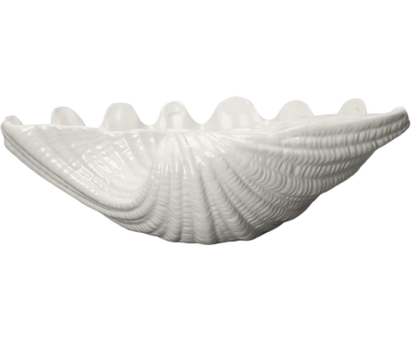 Bol Shell, Cerámica, Blanco, Ø 34 x Al 9 cm