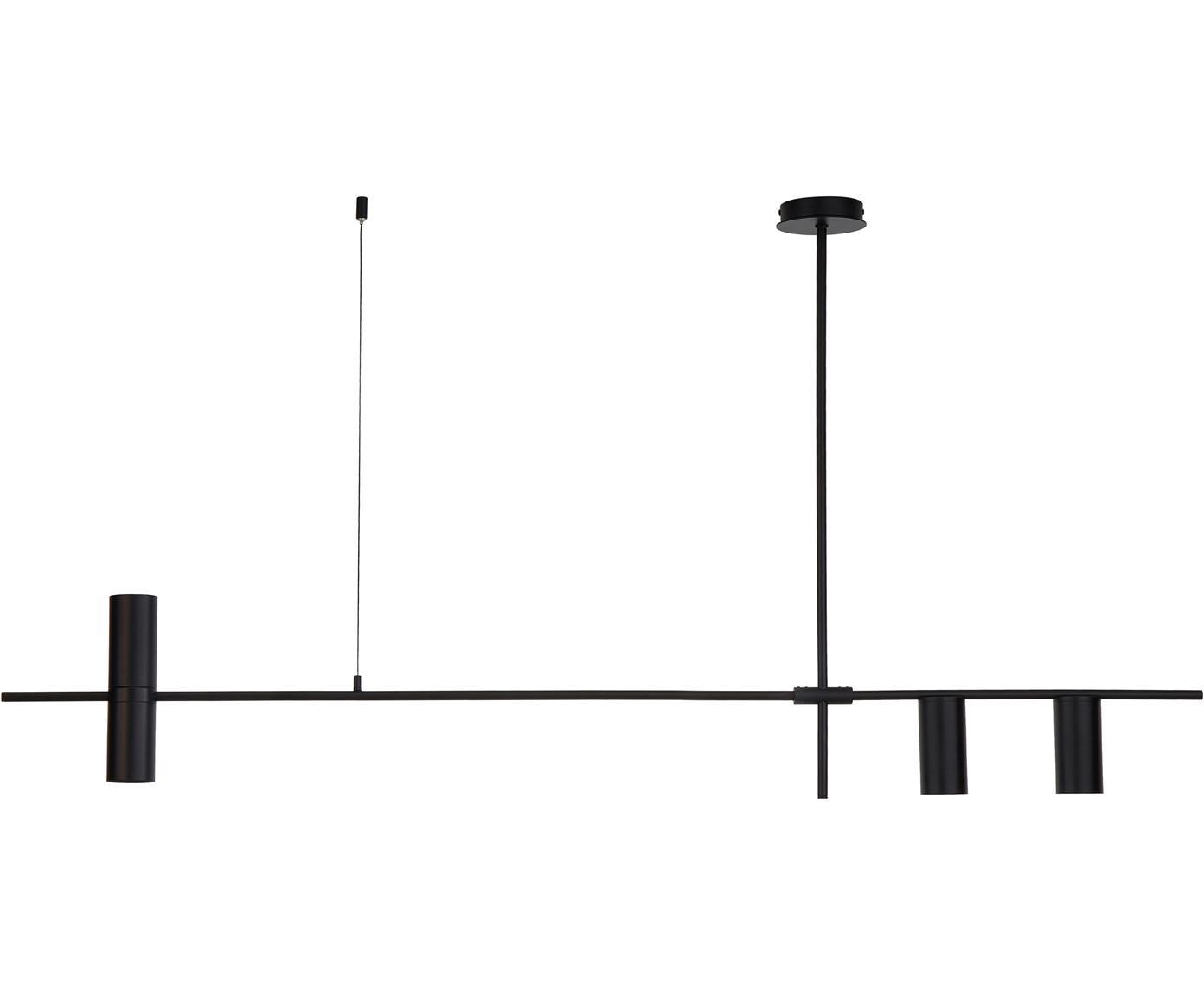 Lámpara de techo Cassandra, Metal con pintura en polvo, Negro mate, An 143 x Al 73 cm