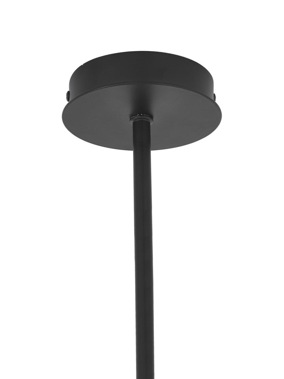 Lampada a sospensione Cassandra, Metallo verniciato a polvere, Nero opaco, Larg. 143 x Alt. 73 cm