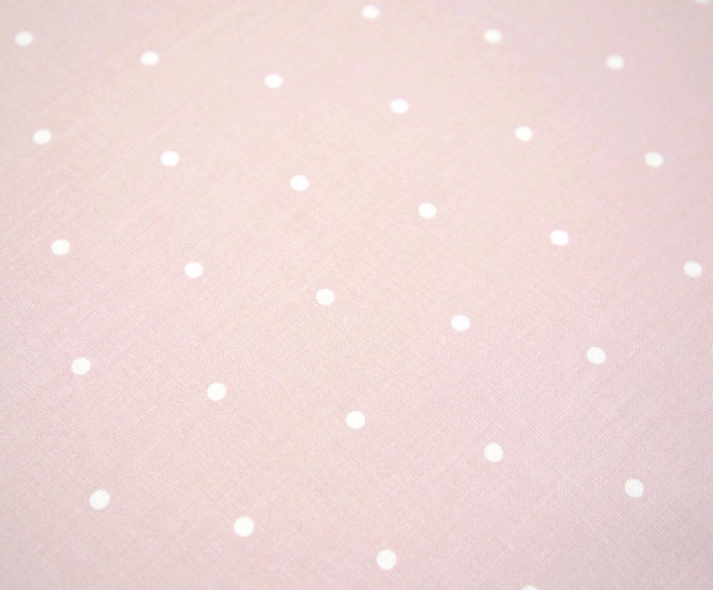 Renforcé-Wendebettwäsche Alexa, gepunktet, Webart: Renforcé Fadendichte 144 , Rosa, Creme, 135 x 200 cm
