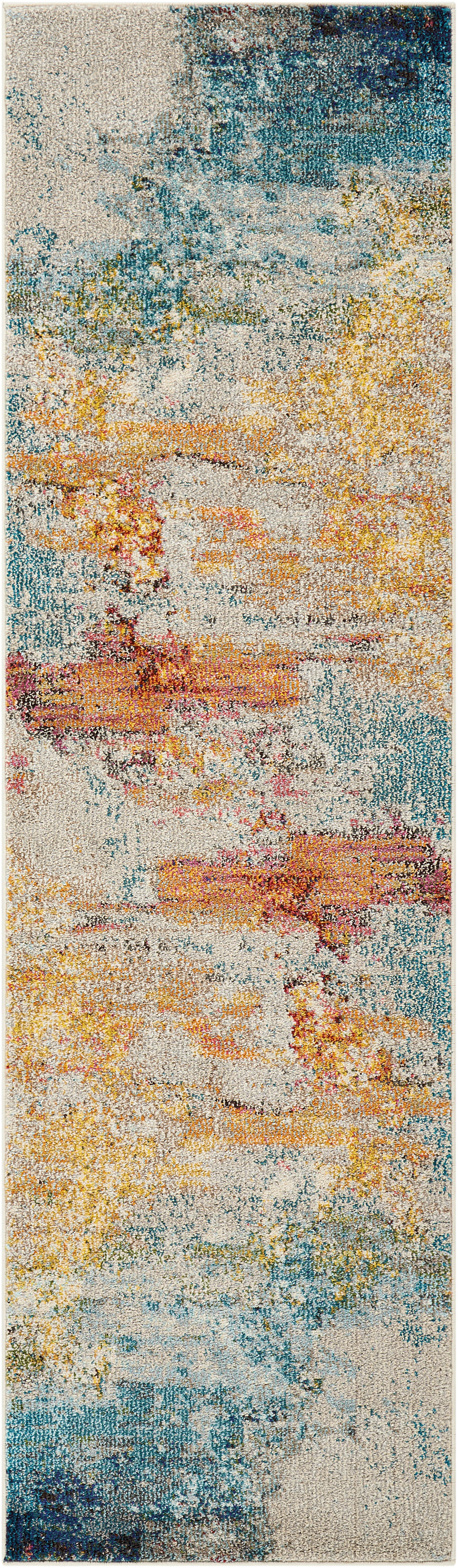 Passatoia a fantasia in polipropilene Celestial, Retro: juta, Multicolore, Larg. 70 x Lung. 230 cm