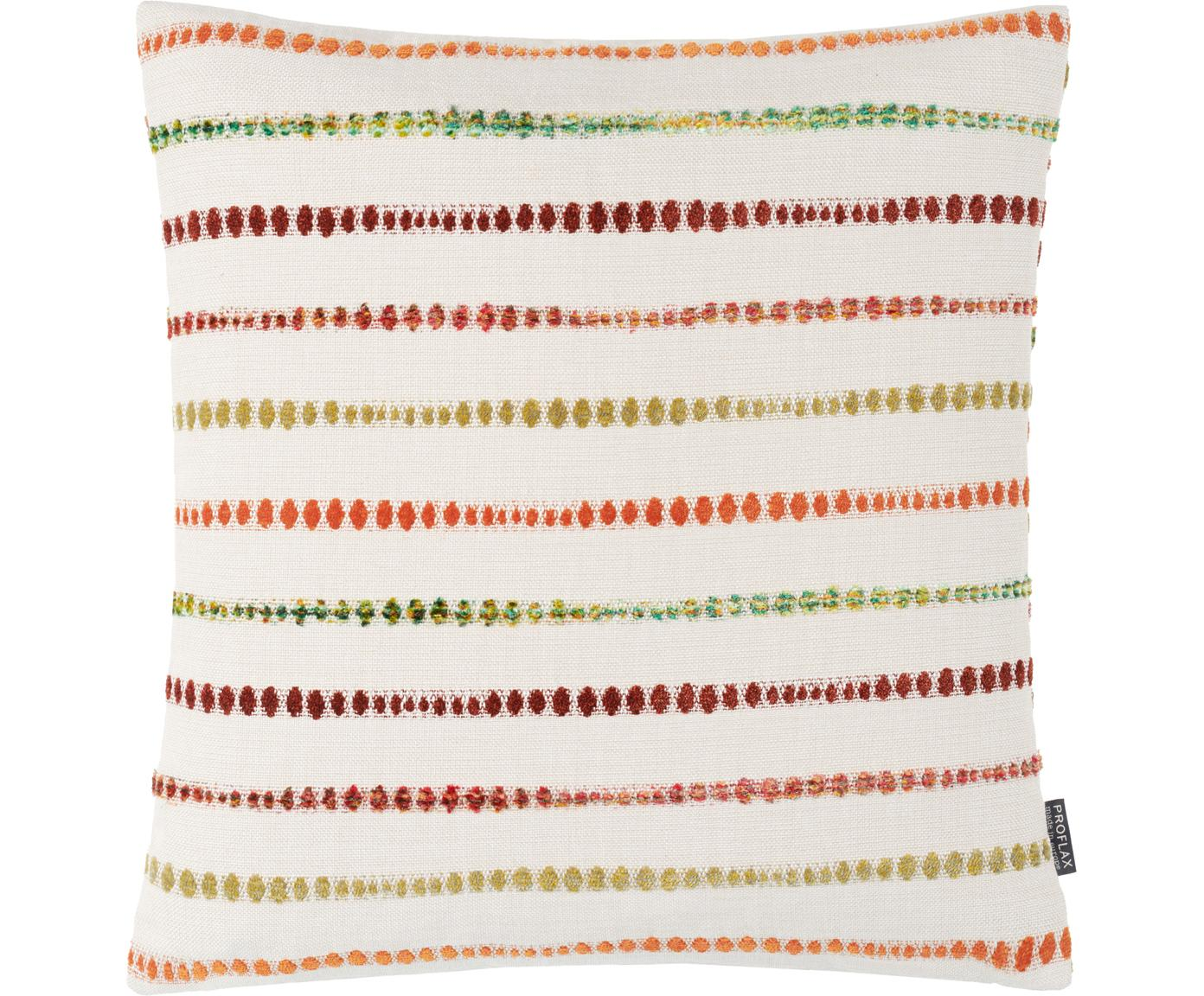 Funda de cojín Alfonso, 52%poliéster, 48%algodón, Blanco, multicolor, An 45 x L 45 cm