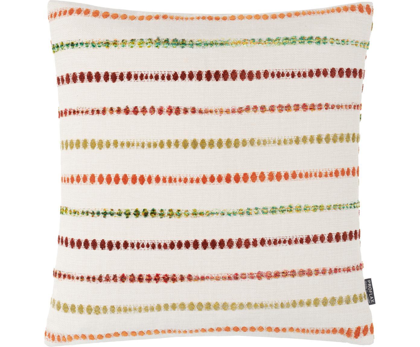 Kissenhülle Alfonso, 52% Polyester, 48% Baumwolle, Weiß, Mehrfarbig, 45 x 45 cm
