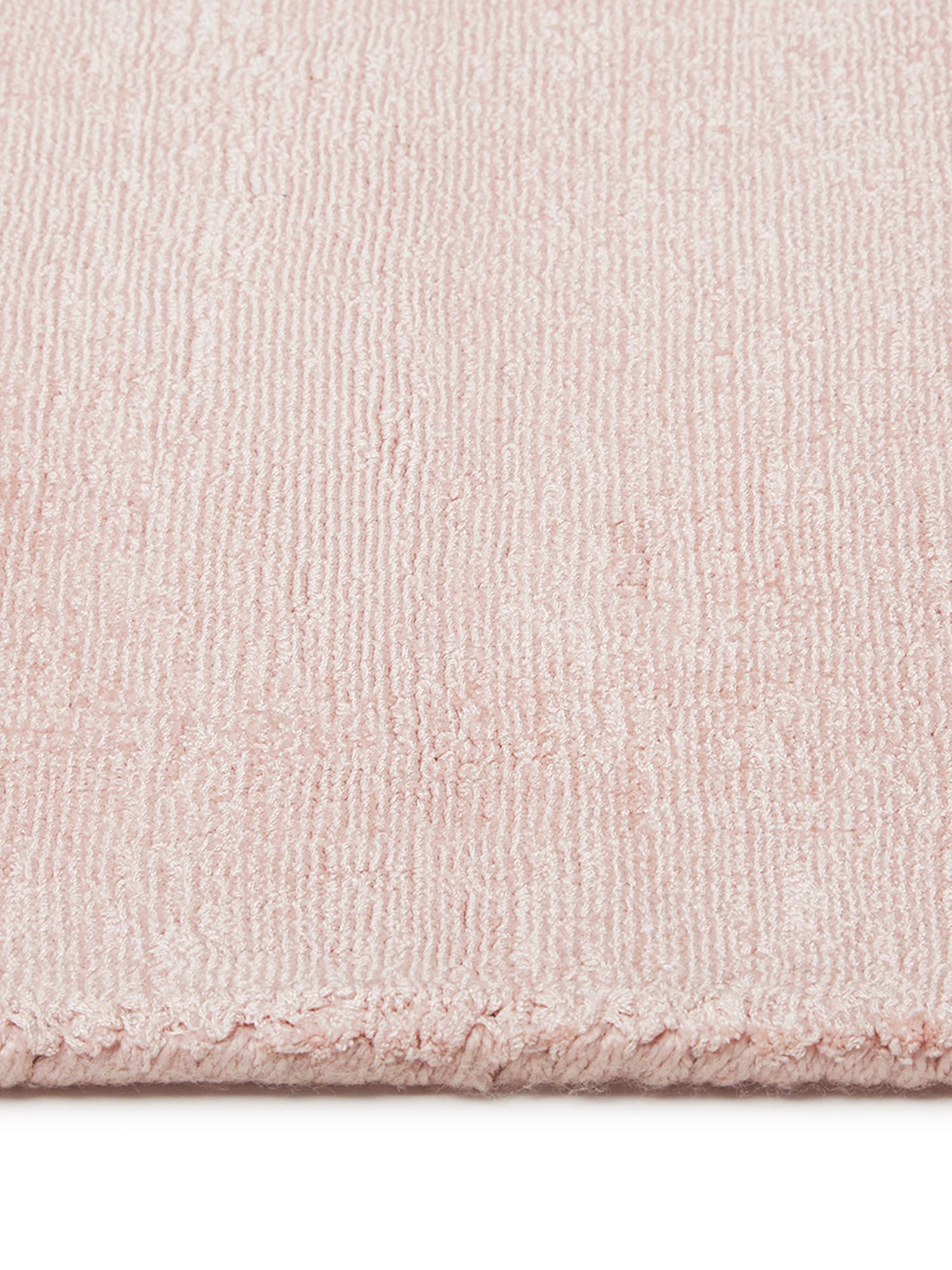 Tappeto in viscosa tessuto a mano Jane, Retro: 100% cotone, Rosa, Larg.160 x Lung. 230 cm  (taglia M)