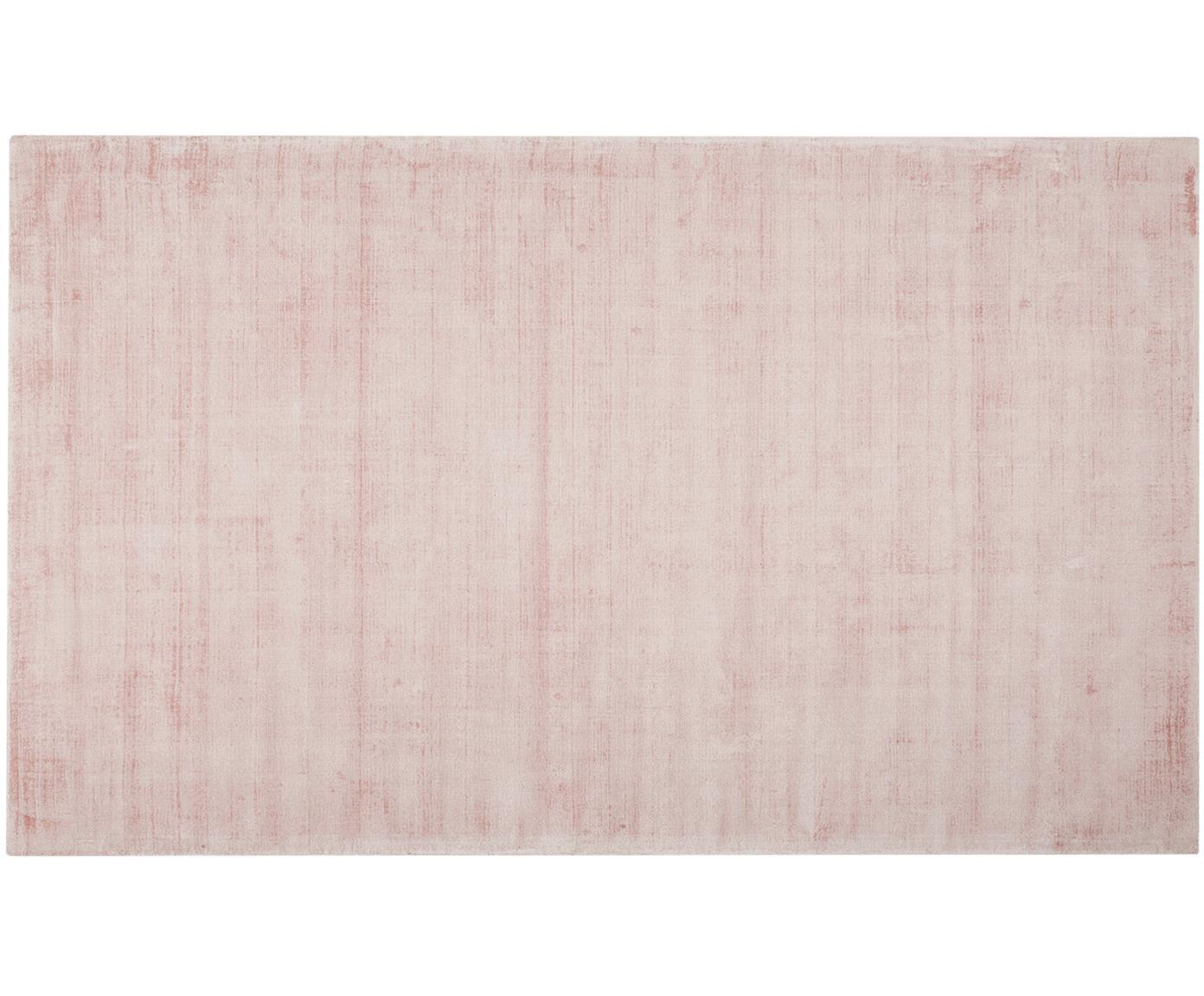 Ręcznie tkany dywan z wiskozy Jane, Blady różowy, S 200 x D 300 cm (Rozmiar L)