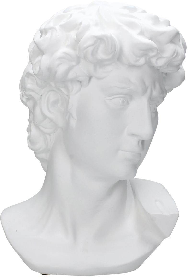 Oggetto decorativo David, Poliresina, Bianco, Larg. 21 x Alt. 29 cm