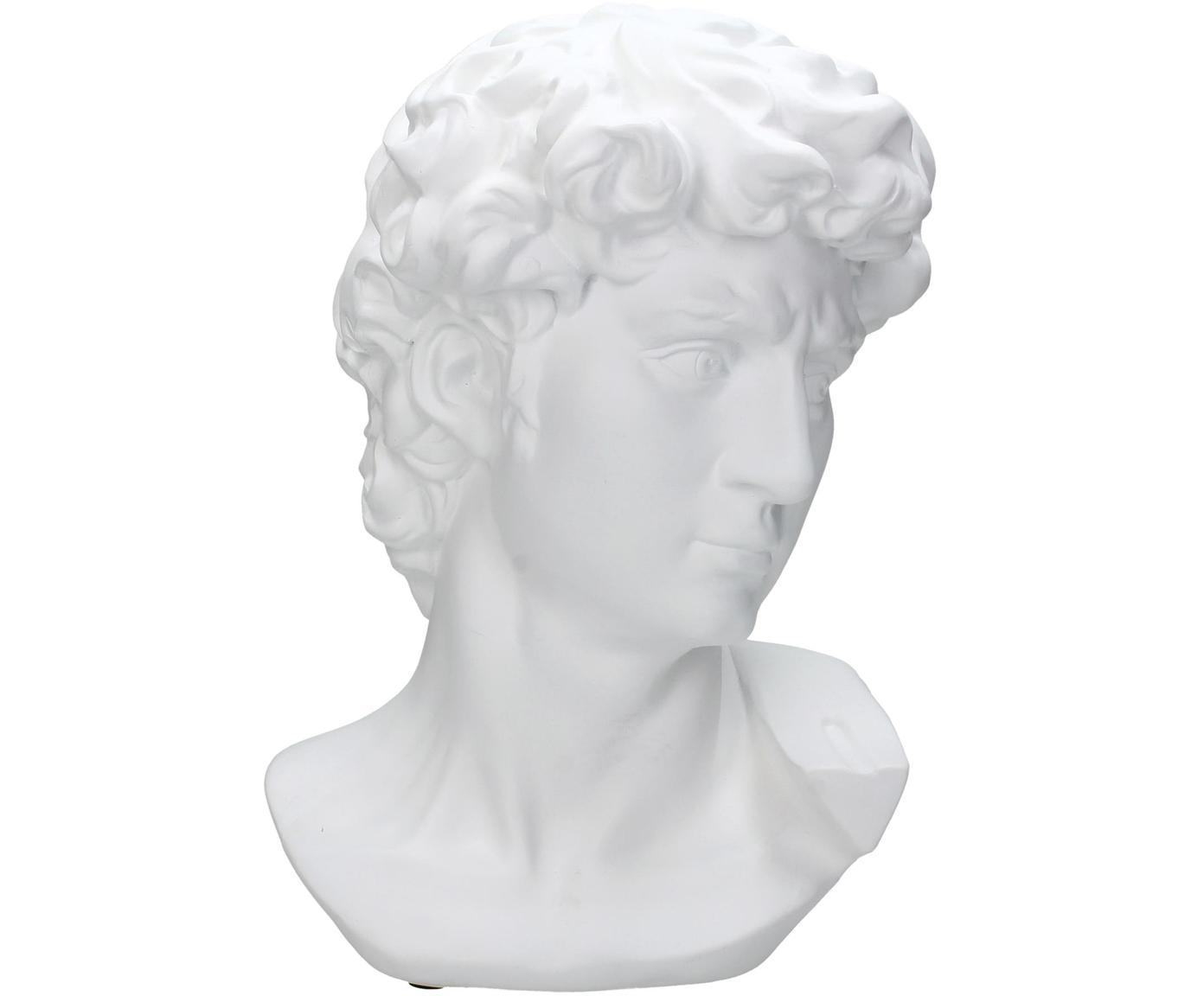 Decoratief object David, Polyresin, Wit, 21 x 29 cm