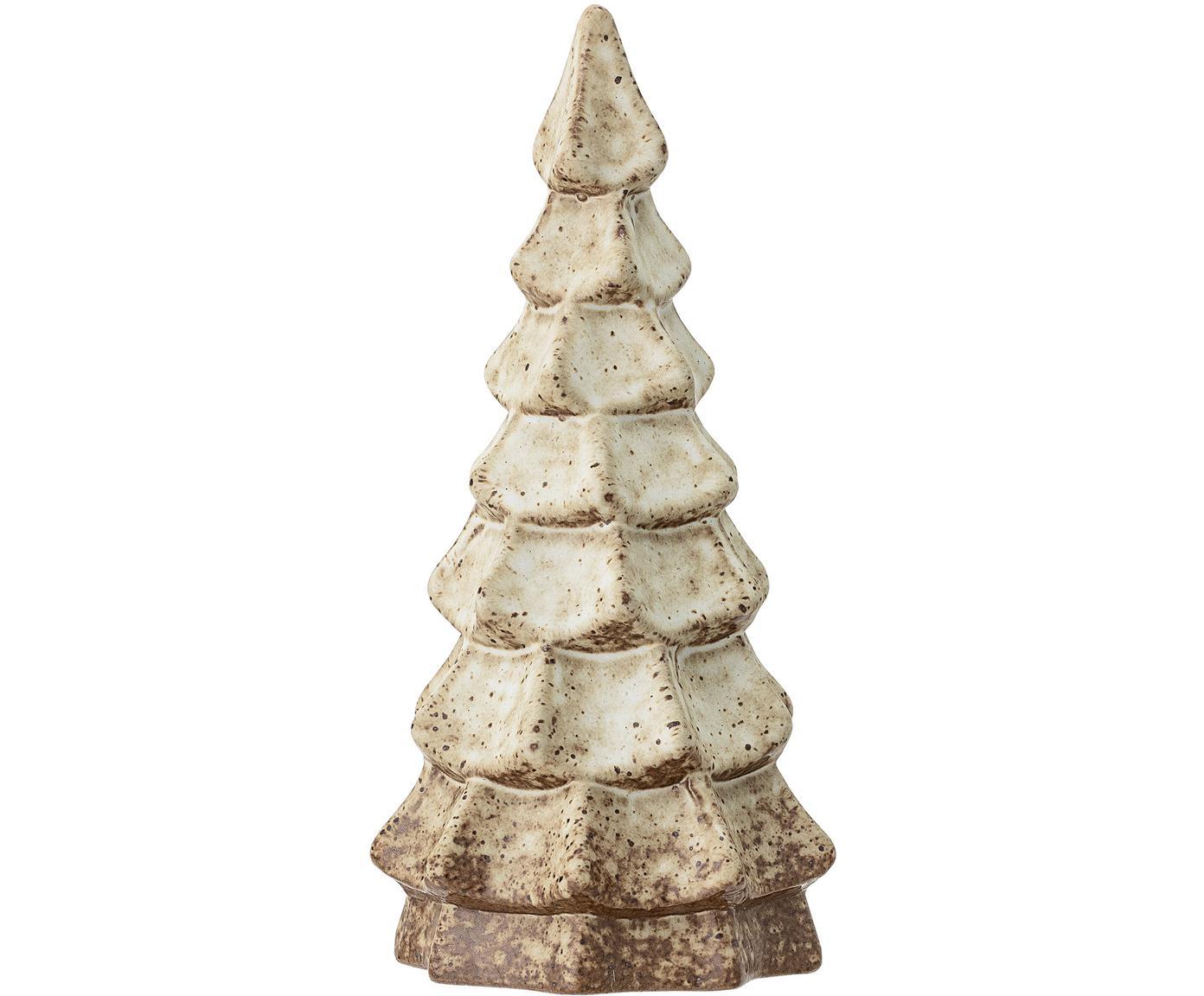Handgefertigtes Deko-Objekt Tree, Steingut, Braun, Beige, Ø 10 x H 22 cm