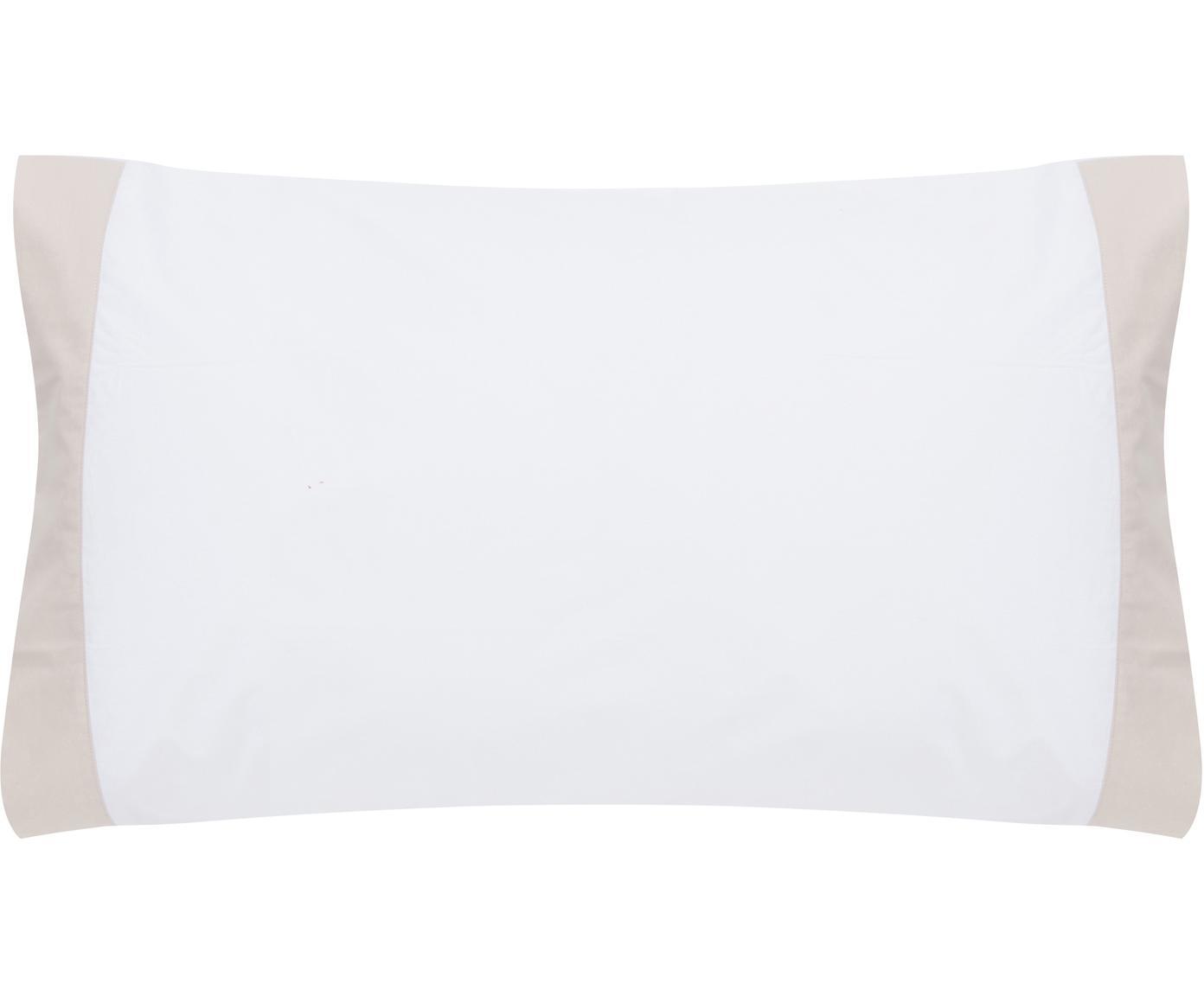 Fundas de almohada Camalisa, 2uds., Algodón, Blanco, crema, An 50 x L 85 cm
