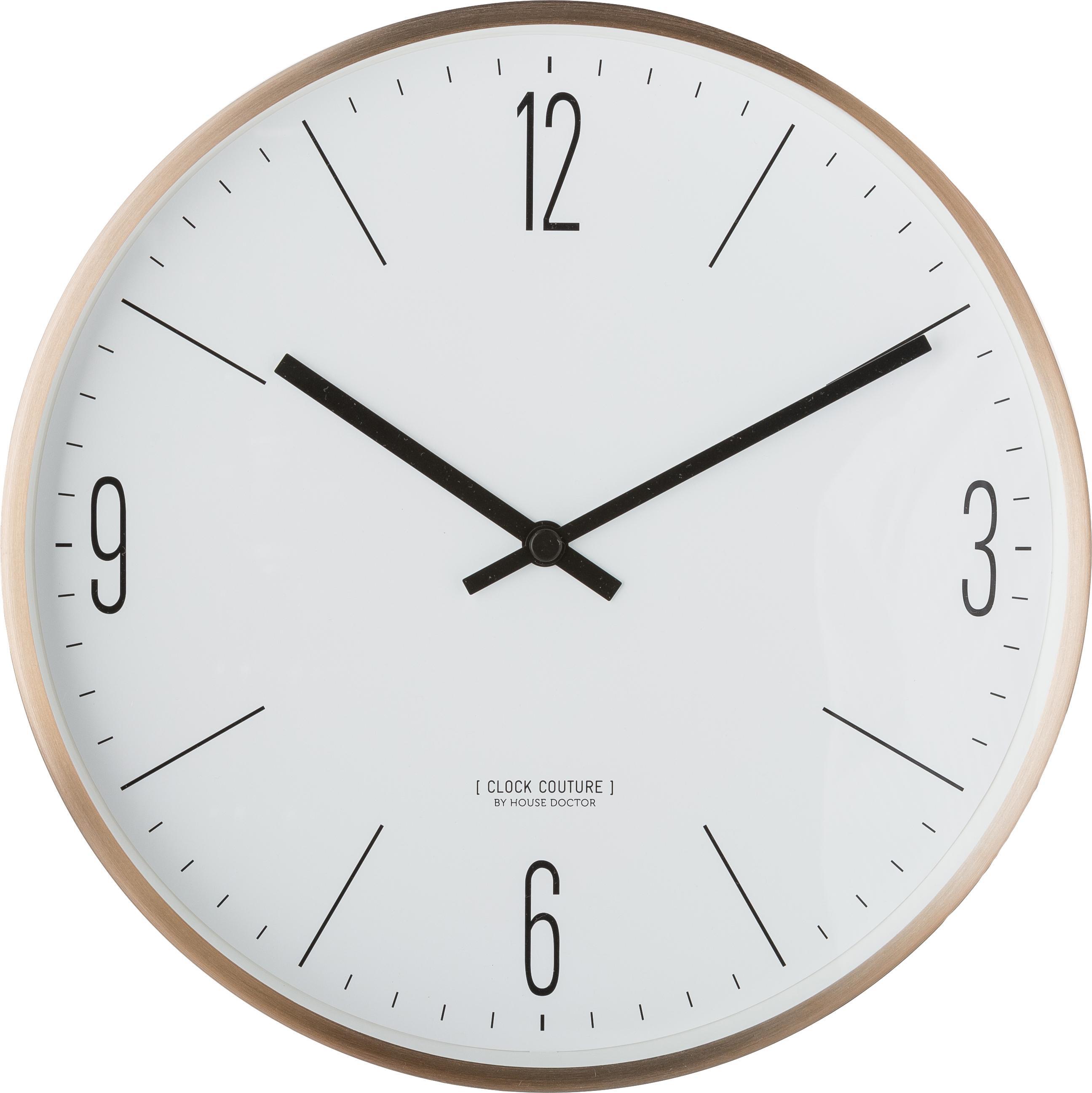 Orologio da parete Couture, Alluminio, Oro, bianco, Ø 30 cm