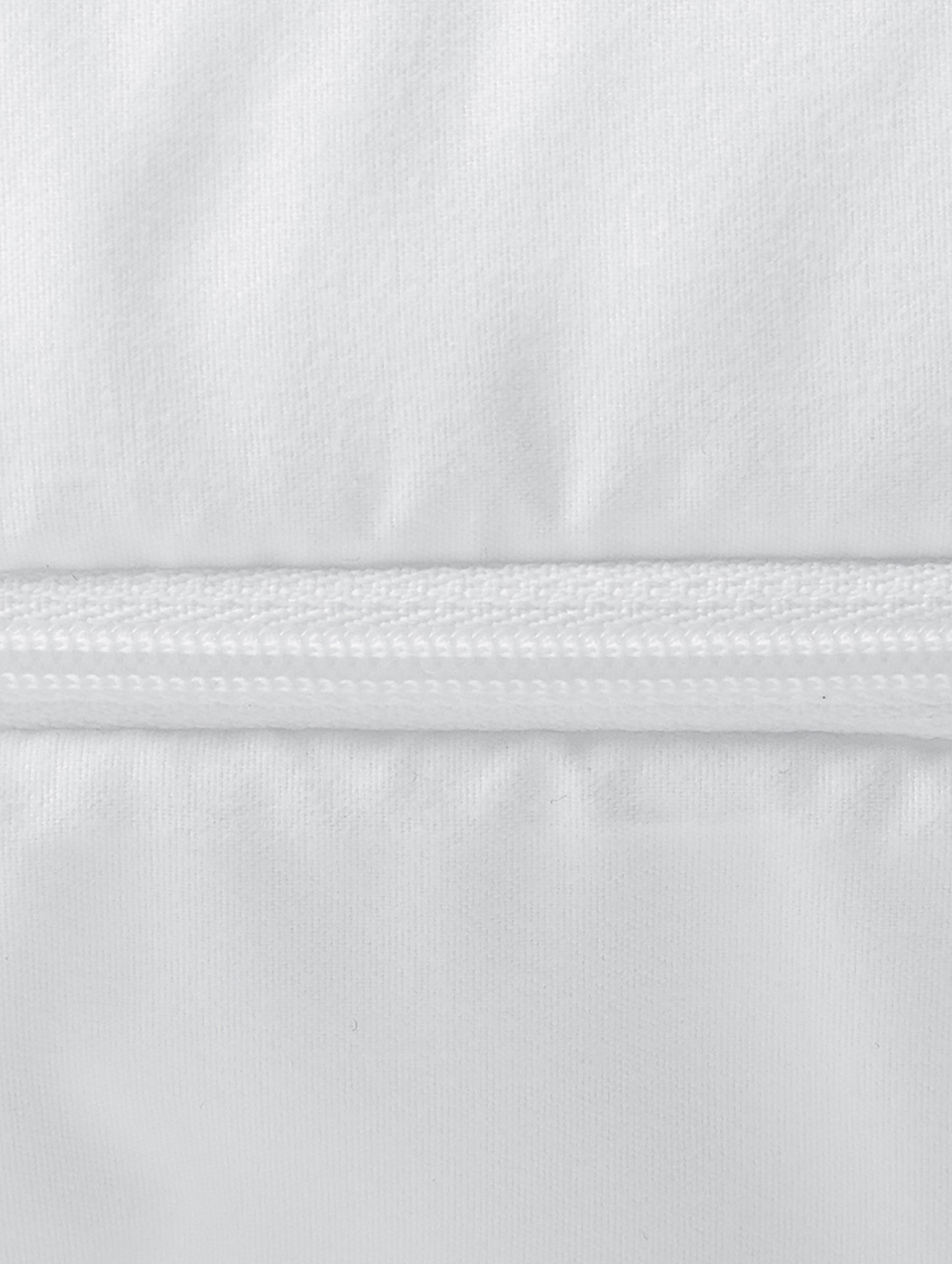 Microfaser-Kopfkissen, fest, Bezug: Microfaser mit Rautenstep, Weiß, 80 x 80 cm