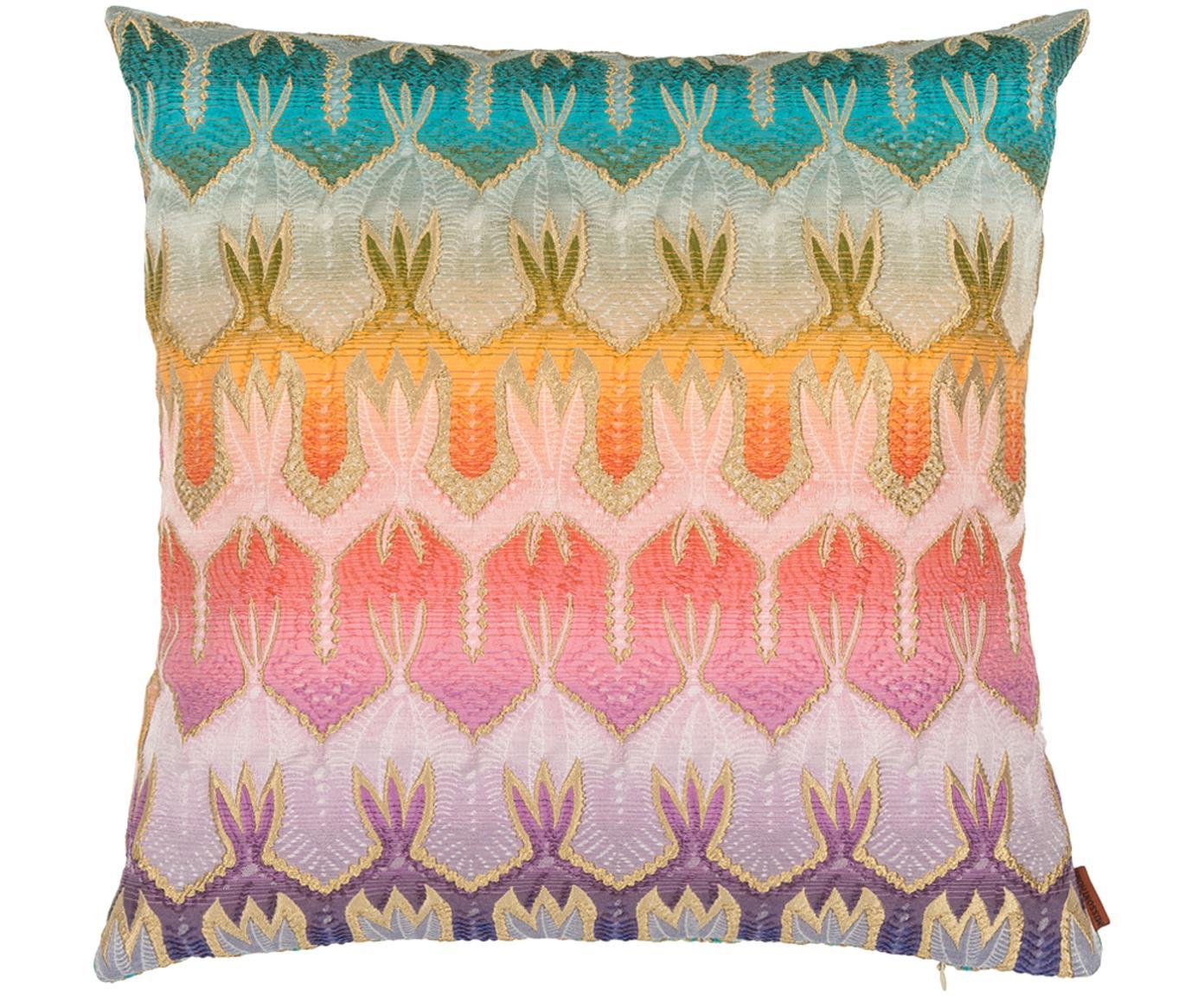 Buntes Designer Kissen Pasadena, mit Inlett, Hülle: 53% Polyester, 38% Baumwo, Mehrfarbig, 40 x 40 cm
