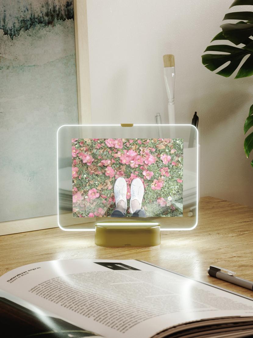 Cadre LED Glo, Couleur laiton